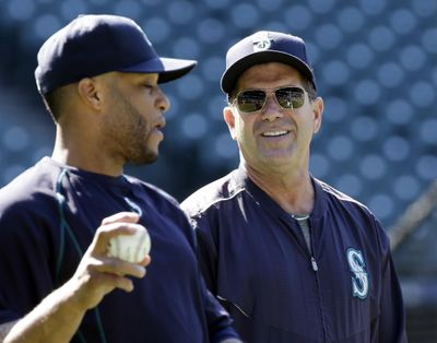 Edgar Martinez, right, is running out of time to be selected to the Hall of Fame. (Elaine Thompson / Associated Press)