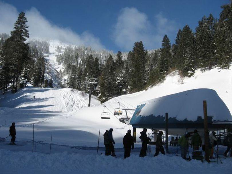 Bogus Basin ski resort, backside, 12/30/10 (Betsy Russell)