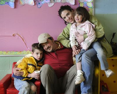 Child Care Resource & Referral helped Rollie and Nicole Stankowitz find Kids Planet for their children Jaden, age 6 and Taia, age 4.  (Dan Pelle / The Spokesman-Review)