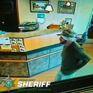 This man is suspected of Robbing the Bank of Fairfield in Rockford on Monday, March 18, 2013.  (Photo courtesy the Spokane County Sheriff's Office)