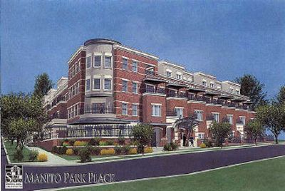Here is an artist's rendering of the proposed Manito Park Place project.   (Steven Meeks Architects, / The Spokesman-Review)