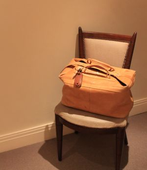 Vintage leather physician's bag found in Brussels, Belgium. (Cheryl-Anne Millsap / Photo by Cheryl-Anne Millsap)