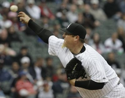 Bobby Jenks admits to throwing a purpose pitch.  (Associated Press / The Spokesman-Review)