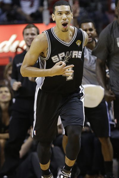 Spurs' Danny Green has made 12 of his last 14 3-point attempts in finals. (Associated Press)
