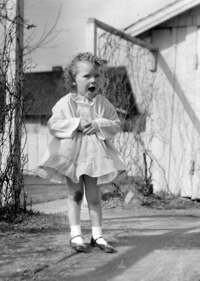 Kathie McGonigle in 1955, when she was 3.