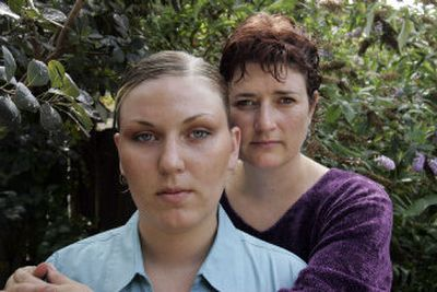 Army Spc. Suzanne Swift, left, seen here with her mother, Sara Rich, in Rich's Eugene, Ore., yard in this September file photo, will face  a special court-martial, Army officials said Wednesday.   (Associated Press / The Spokesman-Review)