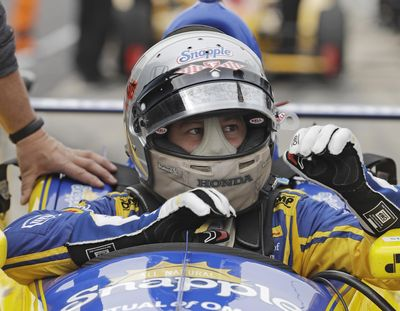 Marco Andretti posted the top speed in Monday's practice for the Indianapolis 500, 228.978 mph, to lead a sweep of the top four spots by his Andretti Autosport team. (Darron Cummings / Associated Press)
