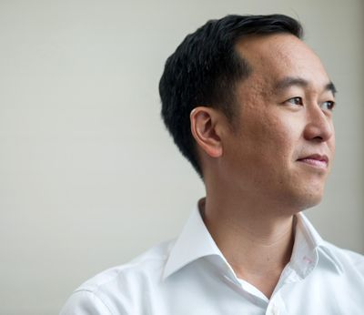 Jeff Chen, chief strategy officer of WeDoctor Group, attends an interview during the Bloomberg Invest Asia conference in Hong Kong. (Paul Yeung / Bloomberg)