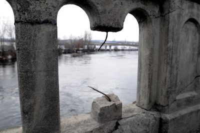 The  Trent Avenue bridge over the Spokane River east of Hamilton Street is  scheduled for refurbishing, even as a proposed extension of Riverside Avenue may decrease traffic there.  (Jesse Tinsley / The Spokesman-Review)