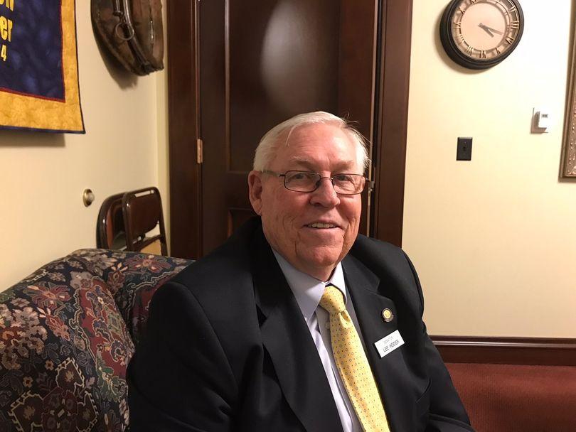 Senate Health & Welfare Committee Chairman Lee Heider, R-Twin Falls (The Spokesman-Review / Betsy Z. Russell)