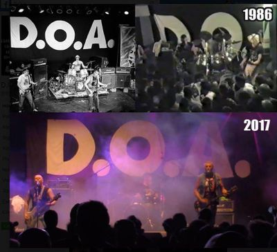 A banner belonging to Canadian punk band D.O.A., which has accompanied their shows since 1985, was stolen from the back of a van after a gig in Spokane last weekend. (Facebook)