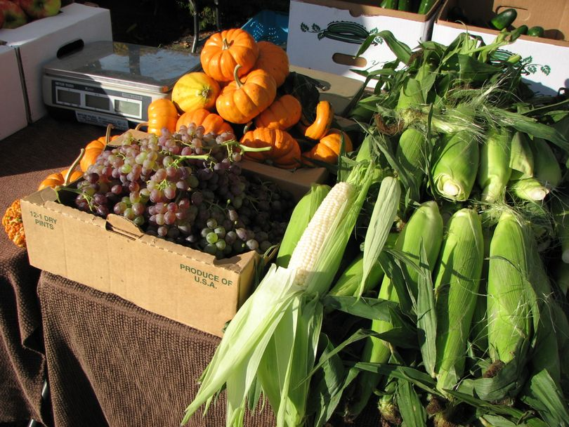 Produce on display at the South Perry Farmers Market  (Pia Hallenberg)