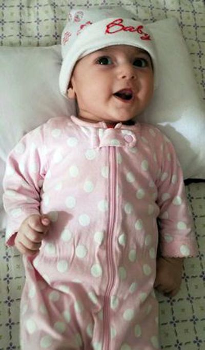 This undated photo shows Fatemeh Reshad, an infant from Iran, who was recently treated for a life-threatening heart condition at Oregon Health Sciences University's Doernbecher Children's Hospital in Portland, Ore. (AP)