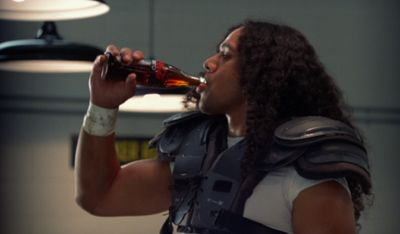 Associated Press photos  Pittsburgh Steelers' Troy Polamalu is shown in a scene from a Coke Zero television ad scheduled to air Sunday during Super Bowl XLIII. (Associated Press photos / The Spokesman-Review)