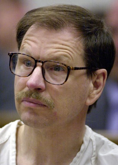 Gary Leon Ridgway appears at a pretrial hearing in King County Superior Court, March 27, 2003, in Seattle. Ridgway, known as the Green River Killer, pleaded guilty to the murders of 48. He was convicted of killing 49. Author Rene Denfeld writes about her experiences with a man much like Ridgway in an essay for Lithub. (AP)