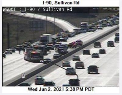 A seven-car pileup caused significant delays Wednesday.  (Courtesy of WSDOT)