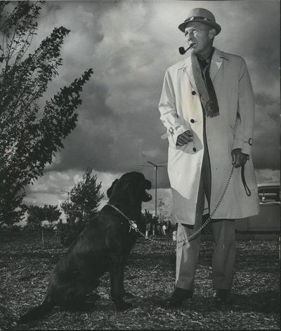 Bing Crosby walking in Spokane.