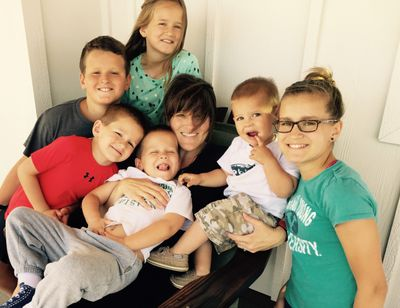 Julia Ditto and her six children are pictured here in 2016.  (Courtesy of Julia Ditto)