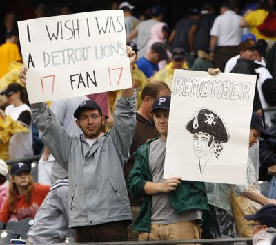 Pittsburgh fans have endured 17 years of sub-par finishes.  (Associated Press / The Spokesman-Review)