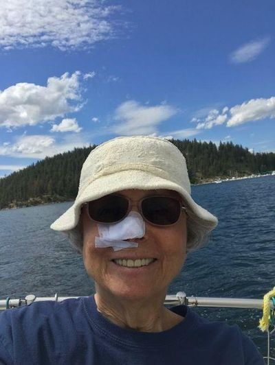 Stefanie Pettit takes her nose sailing on Lake Coeur d'Alene. (Courtesy of Stefanie Pettit)