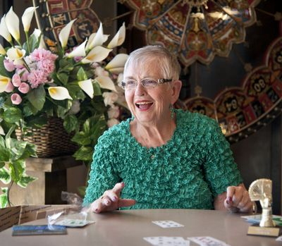 Brenda Simpson will be teaching children how to play bridge in Spokane Valley. She received a Gates Foundation grant since the game relies heavily on math skills. (Dan Pelle)