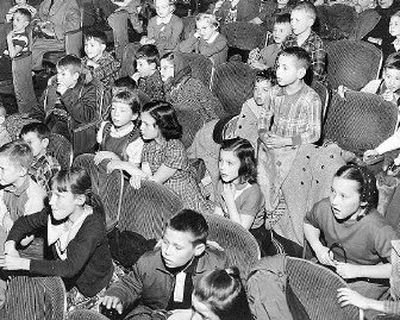 A tense moment for these children watching a performance of Peter Pan at North Central School was photographed on March 2, 1957. The audience was worried for the Lost Boys in the play who had just been given a cake poisoned by Captain Hook.   (Photo archive/ / The Spokesman-Review)