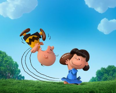 In this photo provided by Twentieth Century Fox & Peanuts Worldwide LLC, Charlie Brown and Lucy play in the new film,