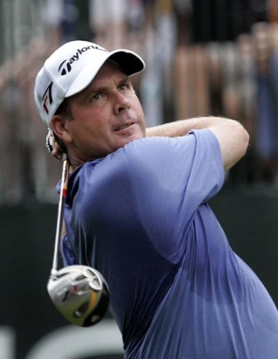 Doug Barron, seen hereduring the first round of the 2006 Buick Open, won the Dicks Sporting Goods Open on Sunday, beating Fred Couples in Barron's second PGA Champions Tour event. (CARLOS OSORIO / Associated Press)