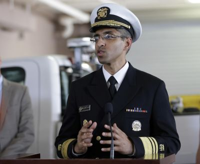 In this July 25, 2016, file photo, Dr. Vivek Murthy speaks during a news conference at Orange County Mosquito Control, in Orlando, Fla. The Trump administration has relieved Dr. Vivek Murthy of his duties as U.S. surgeon general. (John Raoux / Associated Press)