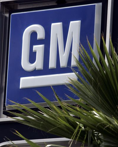 General Motors has bought Strobe Inc., of Pasadena, California, for a small but undisclosed sum. ** FILE ** In a file photo the GM logo is seen over the Rydell Automotive Group General Motors dealership in the Van Nuys area of Los Angeles Wednesday, May 4, 2005. General Motors Corp. shares, already at 13-year lows, fell another 5 percent Thursday, Nov. 10, 2005, after the world's largest automaker said it would restate its earnings for 2001 because an accounting error led it to overstate its 2001 profit by up to $400 million. (AP Photo/Reed Saxon) ORG XMIT: NY834 (Associated Press)