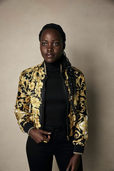 """Lupita Nyong'o is photographed Monday, Jan. 28, 2019, to promote the film """"Little Monsters"""" at the Salesforce Music Lodge during the Sundance Film Festival  in Park City, Utah. (Taylor Jewell / Invision/Associated Press)"""