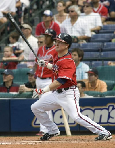 Nate McLouth's trade to the Braves surprised many. (Associated Press / The Spokesman-Review)