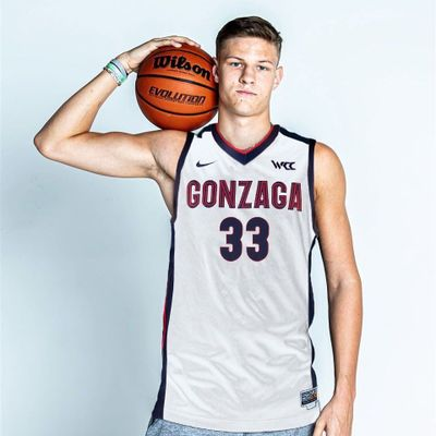 Gonzaga's Ben Gregg poses in a GU jersey. Gregg graduated high school early and has been added to the Zags active roster.  (Courtesy of Gonzaga Athletics)