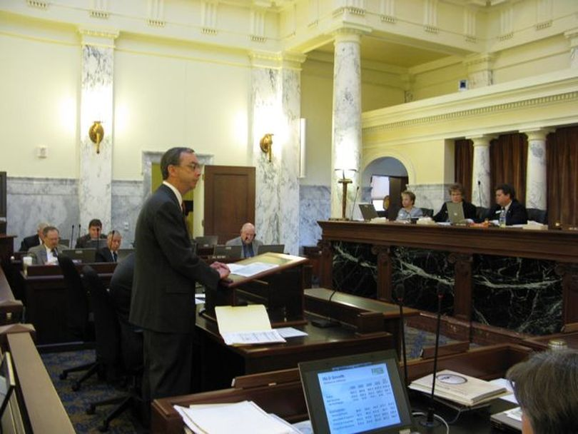Idaho State Liquor Division director Jeff Anderson tells legislative budget writers Friday that liquor sales continue to grow despite the down economy; he called state-run liquor sales