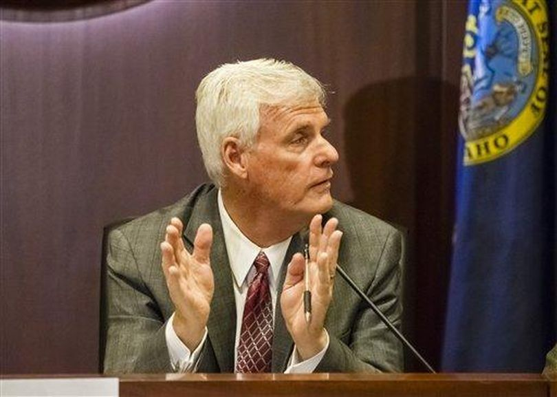 Sen. Brent Hill, R-Rexburg, the president pro-tem of the Idaho Senate. Hill and House Speaker Scott Bedke, R-Oakley, are appointing a new legislative panel to re-examine the state's ethics and campaign finance laws. (Otto Kitsinger / Associated Press)
