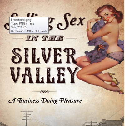 """The cover of Heather Branstetter's """"Selling Sex in the Silver Valley: A History Doing Pleasure"""" startled one of Sheila Barnes' brothers. (Book cover photo from The History Press)"""