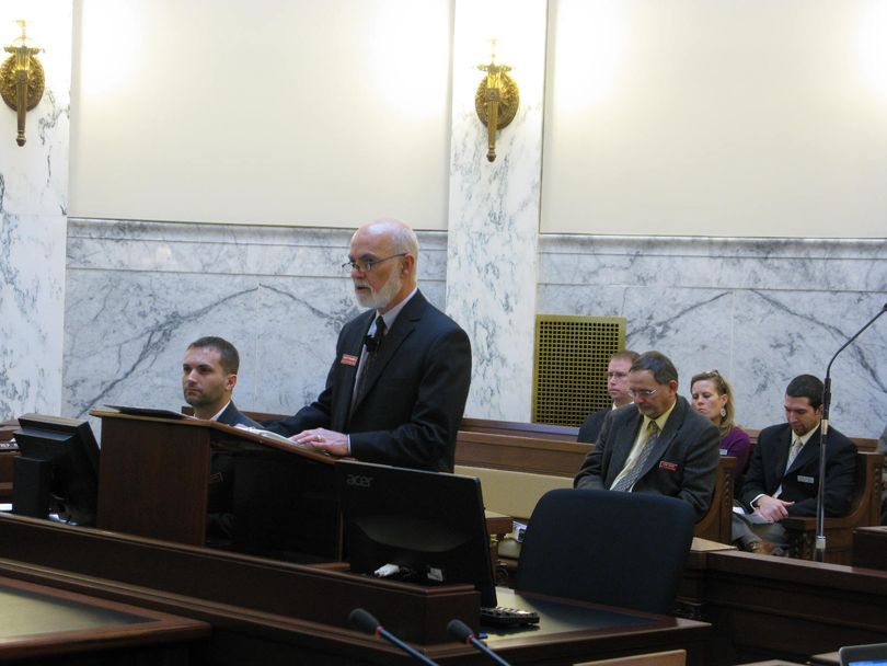 Idaho DEQ Director Curt Fransen makes his budget presentation to lawmakers on Wednesday (Betsy Russell)