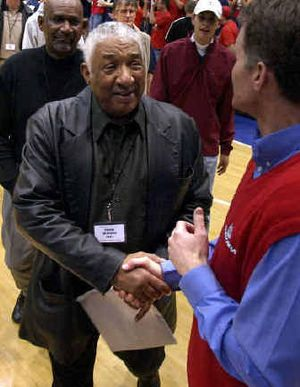 Former Gonzaga University basketball star Frank Burgess, left, will have his No. 44 retired in ceremonies today in the McCarthy Athletic Center.   (File/ / The Spokesman-Review)