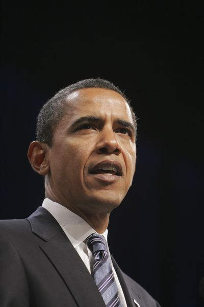 President-elect Barack Obama makes remarks on the nation's economy Thursday at George Mason University in Fairfax, Va.  (Associated Press / The Spokesman-Review)