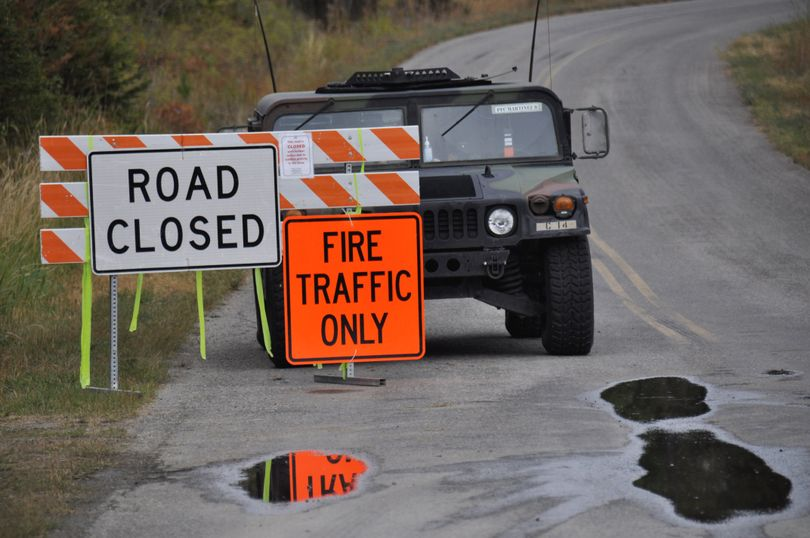 National Guard troops were enforcing national forest closures over the Labor Day weekend in many areas of Washington, including roads east of the Pend Oreille River in the Colville National Forest. (Rich Landers)