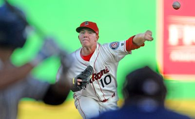 Spokane Indians pitcher Robbie Ross tossed five  solid innings against league-leading Tri-City on Tuesday. (Christopher Anderson / The Spokesman-Review)