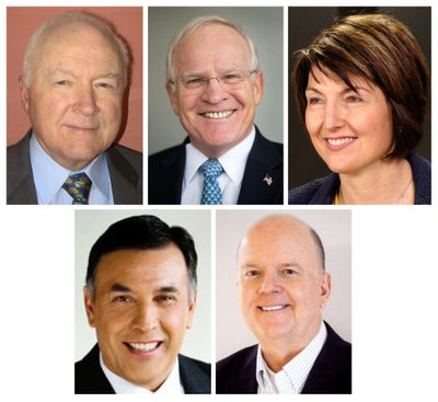 Candidates who have announced they will run for Congress this year for the seat representing Spokane: Tom Horne, David Kay, incumbent Cathy McMorris Rodgers, Joe Pakootas, Dave Wilson.