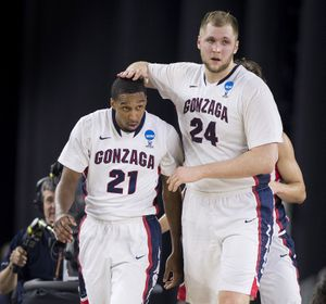Eric McClellan, left, and Przemek Karnowski have helped the Zags reach new heights. (Colin Mulvany)