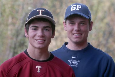 Nicholas Motsinger, a  sophomore at U-Hi, and Nathan Motsinger, a Gonzaga Prep senior, are the best hitters at their schools and are among the GSL batting leaders this spring.  (J. Bart Rayniak / The Spokesman-Review)