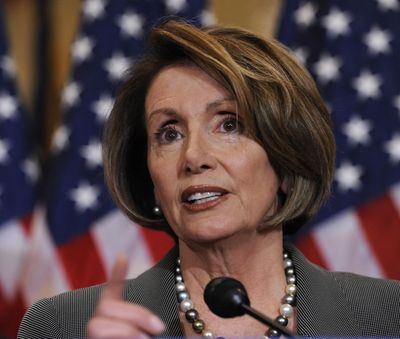 House Speaker Nancy Pelosi speaks  at a Capitol Hill news conference  Friday.  (Associated Press / The Spokesman-Review)