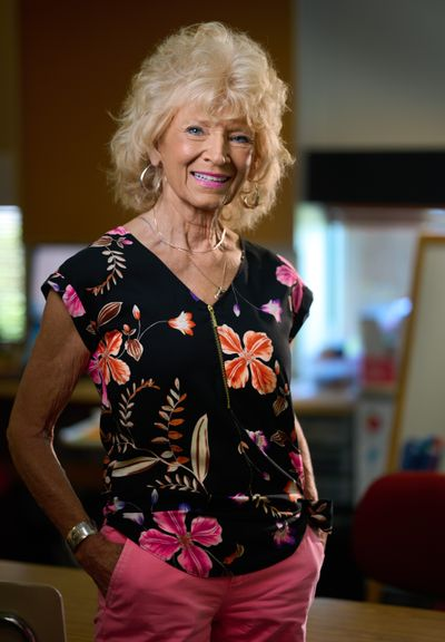 Special education teacher Joy Chastek, age 78, has been in education for 55 years, most of them at Longfellow Elementary in northeast Spokane.  (COLIN MULVANY/THE SPOKESMAN-REVIEW)
