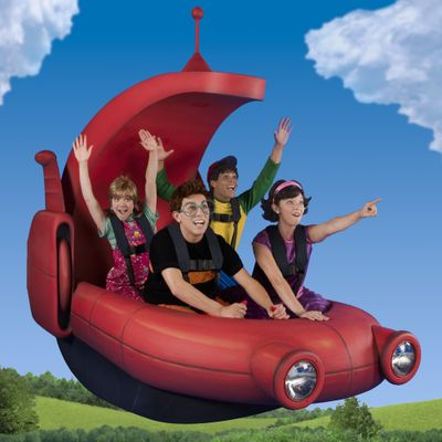 """The Little Einsteins go on a musical mission in """"Playhouse Disney"""" Live. Jennifer Bacon, a Whitworth University graduate, in the back seat at left, plays the role of Annie on the show. In the far-left photo, Mickey and his pals throw a musical party at the Mickey Mouse Clubhouse. Photos courtesy of Feld Entertainment/Heinz Kluetmeier (Photos courtesy of Feld Entertainment/Heinz Kluetmeier / The Spokesman-Review)"""
