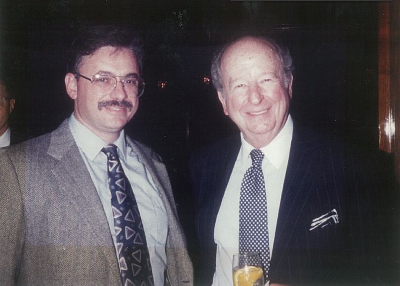 I met Herb Caen, the celebrated San Francisco Chronicle columnist, at the 1993 National Society of Newspaper Columnists convention in Portland, Ore. I grew up reading Caen's three-dot columns and patterned my own after his. (Mrs. O photo)
