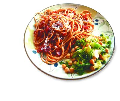 In Italy, the rich, spicy tomato sauce called Amatriciana is found on many restaurant menus. Yet this pasta sauce is easy to make at home. You start by making cacio e pepe, add pancetta or bacon, and then tomatoes to finish a hearty dish.  (Tribune News Service)