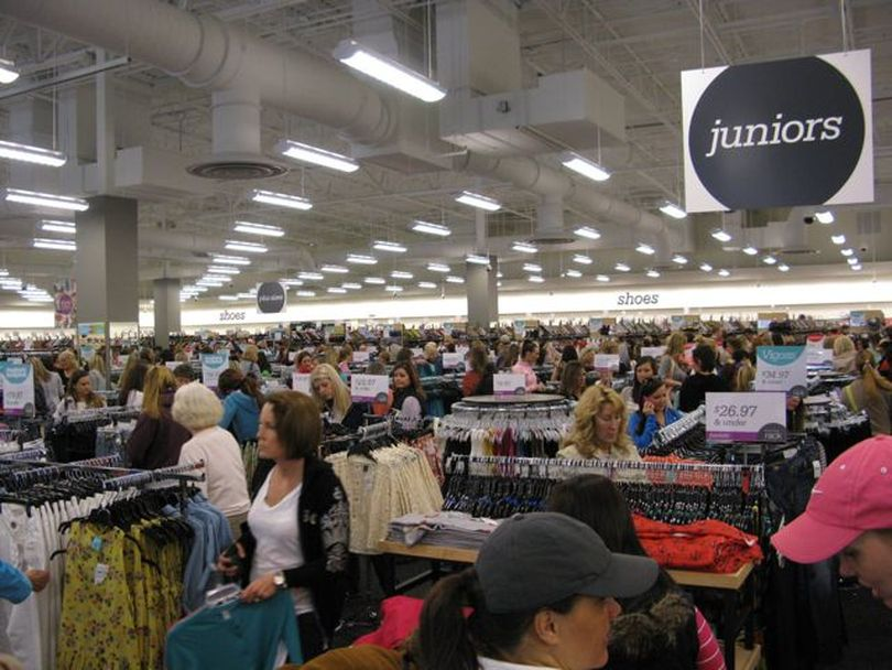 Shoppers pack a new Nordstrom Rack store in Boise at its grand opening on Thursday morning. (Betsy Russell)